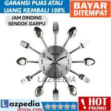 Indobest COD -  SILVER  Jam Dinding Model Kuliner Sendok Garpu   Dekorasi  Rumah   5d5b2cf6cc