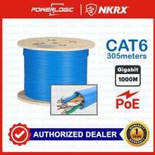 POWERLOGIC Authentic Cat6 Ethernet Patch Cable Gigabit Network Utp Lan Cable   305 Meters