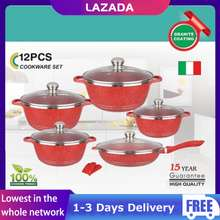 Dessini 【Ready Stock】 12 Piece Stainless Steel Induction Cookware Set