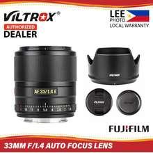 Viltrox 33Mm F1.4 Xf Auto Focus Lens Aps-C Compact Large Aperture Lens For Fuji-X - (Lee Photo)