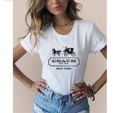 """Coach Cch Large Women'S Slim Fit T-Shirts L24"""" X W 18"""""""