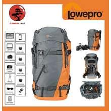 Lowepro Powder Backpack 500 AW Backpack Camera Bag Travel Bag Travel Backpack for DSLR Camera Pro Mirrorless Camera and Lenses (Orange / Blue)