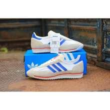 adidas Sepatu Sl 72 White List Blue Original Bnwb - Sneakers Casual Bnwb Sl72 White Blue