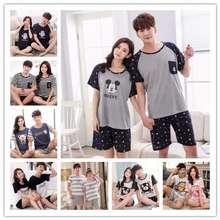Uniqlo Alin Couple Pajamas Summer Short-Sleeved Pajamas Female Pajamas Homewear Man Home Service Suit Sleepwear Pajamas