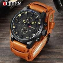 CURREN Watches Men Watch Leather Strap Quartz-Watch Casual Sports Wristwatch