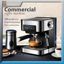 Coffee Machine Small Coffee Machine Semi-Automatic Coffee Machine Espresso Machine Microcomputer Con