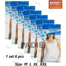Golden Nick PADIe - 6 PCS Kaos Dalam   Singlet Wanita AT 48 b25b09b4a0