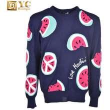 Moschino Watermelon Printed Crewneck Sweater For Men - Blue 8U400-1088-Y56