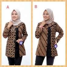 Atasan Batik Blus Batik Jumbo Blouse Batik Super Jumbo Bigsize Baju Atasan Wanita Big Size