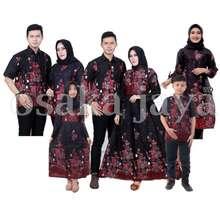 Sakura Baju Batik Keluarga Sarimbit Motif Merah Kemeja Pendek Xl