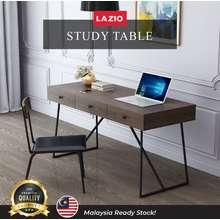 Lazio [ READY STOCK ] Sofa | Bruten Computer Table | 3 Drawers Writing desk| Steady Metal Frame Study Desk | L1500 x D560 x H760mm | Anti-Skidding and Anti-Scratch