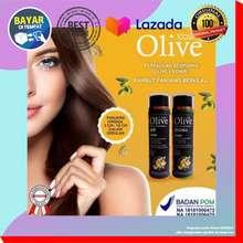 SYB [PAKET] Penumbuh Rambut Olive Black Shampoo+Conditioner Kemiri 200ml Penumbuh Rambut Pemanjang