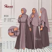 Hana GAMIS MUSLIMAH H 21 LAVENDER (Int:XS)