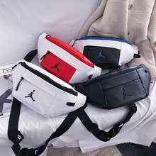 Nike 【Ready Stock】Air Jordan Aj Waterproof Chest Bag Casual Pockets Shoulder Bag Sports Messenger Waist Men Crossbody Bag