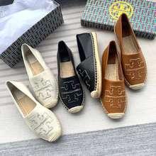 Tory Burch 【New Colors!!】 Sheepskin Classic Fisherman'S Shoes Ines Espadrille Women'S Comfortable Flat Shoes