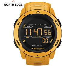 NORTH EDGE MARS jam tangan pria Murah terbaru 2020 Original anti air 50M Olahraga Outdoor Sport Digital Watch (Kuning)