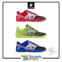 Kelme Sepatu Futsal Subito Knit Red - Blue - Green Neon