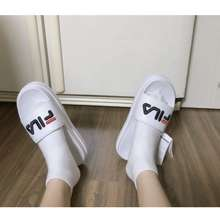 FILA [Korea Mall] Logo Striped Slippers And Slippers Various Color