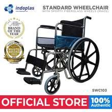 Indoplas Heavy Duty Wheelchair With Mag Wheels (Black)
