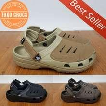Crocs Ready Lagi Sandal Yukon Leather/Sandal Pria
