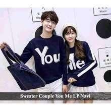 Baju Couple PROMO - Sweater Couple Model Terbaru - Sweater You Me LP Navy d4afdda0f8