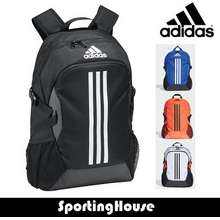 adidas Power V Backpack Front Zip Pocket Side Slip-In Pockets Padded Laptop Compartment