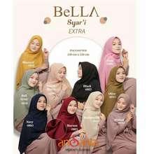 Bella Square hijab syari jumbo bella by ansania (Int: One size, Hitam)