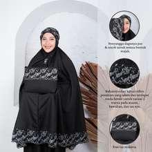 Sabrina Mukena Siti Khadijah Syahbani Pasteleena Terlaris Termurah Katun Bordir Jumbo Dewasa Wanita by (Hitam)