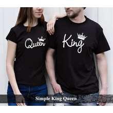 Couple Bajubaju kaos couple pasangan terbaru baju couple murah Kaos Couple Simpel King Queen [hitam