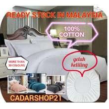 """HomePro """"Proyu"""" 100% Cotton High Quality (1000 Thread Count) Fitted Bed Sheet With Comforter Set (Queen/King)"""