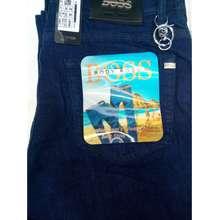 Standard Celana Panjang Pria Denim Stretch Reguler Fit Warna Biru Tua - SumberRejekiJeans