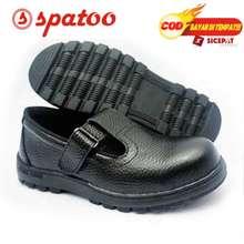 ADA Jual Sepatu Safety Wanita Besi Pengaman Kulitas Baik Kulit Asli Hitam 43