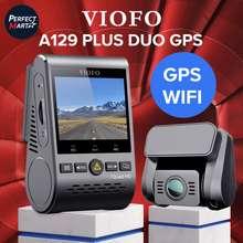 VIOFO A129 PLUS DUO GPS กล้องติดรถยนต์ หน้าชัด 2K หลังชัด Full HD มี WIFI มี GPS ใช้คาปาซิเตอร์ ปลอดภัย อายุการใช้งานยาวนาน (ไม่รับเมม, ชุดกล้องหน้าหลัง)
