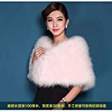 Feather Dorliona Ostrich Feather Cape Fur The Bride Wedding Dress Shawl Winter Coat Authentic Gown Conference With A Tank Top Meat Powder Size Long100Cmhigh30Cm