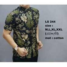 LS kemeja batik pria modern / baju batik pria 244