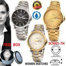 Saint Costie Jam Tangan Wanita Sc8035L/Sc9001L-Th-Jam Rante Wanita Anti Air-Tgl-Kalender Aktif-Free Box Kaleng