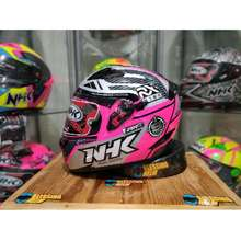 NHK Helm Full Face Racer X Pink Flo Silver