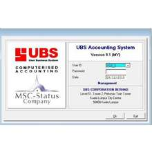 UBS Accounting System Ver. 9.1 with USB Dongle (Single User)