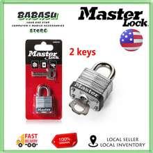 Master Lock Wide Laminated Steel Warded Padlock Anti-theftWaterproofNo gallbladder layer home padlock dormitory outdoor lock