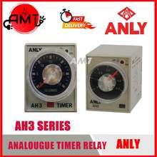Anly 👨🔧Ready Stock👨🔧 Ah3-1 Timer Relay (10S/30S/60S ; 10Min/30Min/60Min) 240Vac