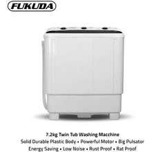Fukuda Washing Machine Twin Tub 7.2Kg Ftw72M