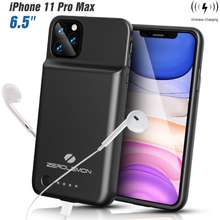 Zerolemon Iphones 11/11 Pro/11 Pro Max Battery Case, Wireless Charge + Headphone Support