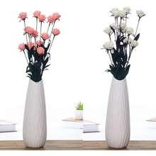 Vococal 2 Bunch Artificial PE Foam Rose Flower for Wedding Bride Bouquet Bridesmaids Home Table Party
