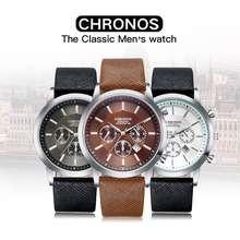 Chronos Maverick - Jam Tangan Kulit Mewah Pria Arloji Pria Luxury Men'S Watch - Free Box