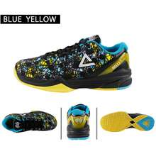 PEAK Delly Basketball Men Sports Shoes Breathable Cushioning Sneaker Carnival Yellow