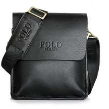 Polo Men Leather Sling Shoulder Cross Body Man Bag Brown