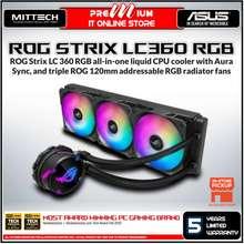 ASUS Rog Strix Lc 360 Rgb All-In-One Liquid Cpu Cooler | Aura Sync | Triple Rog 120Mm Addressable Rgb Radiator Fans