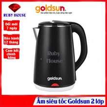 Goldsun Ấm Siêu Tốc 2 Lớp Phiếu Bảo Hành 12 Tháng, Dung Tích Lớn 2.2 Lít - Ruby House