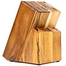 Kitchen 15 Slot Kitchen Knife Holder- Acacia Wood Universal Knife Block - Wooden Knife Holder For Kitchen Counter - Knife Block Universal By Coninx