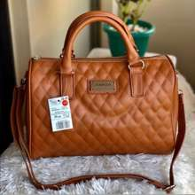 Mango Quilted Bowler'S Bag Size: 27X23X14Cm- (Mall Pull Out)